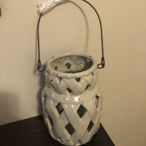 Grey Lattice Lantern
